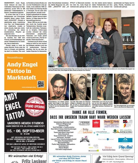 Sonderveröffentlichung über Andy zur Neueröffnung im Kitzinger Report