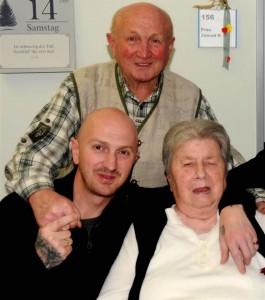 Andy mit seinen Eltern