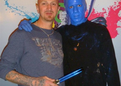 Andy Engel bei The Blue Men Group