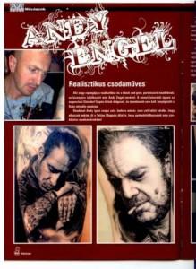 Andy Engel im Tattoo Ungarn Magazin