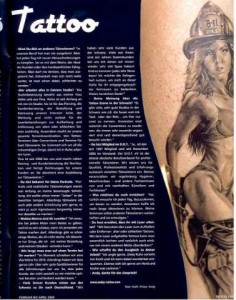Andy im Tattoo Time Magazin