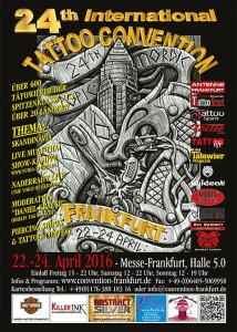 22. – 24.04.2016 24. Internationale Tattoo-Convention Frankfurt am Main