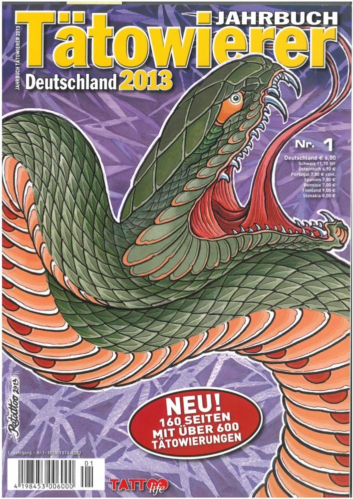 B�cher - Ver�ffentlichungen - TÄTOWIERER JAHRBUCH DEUTSCHLAND 2013 - Ausgabe 1