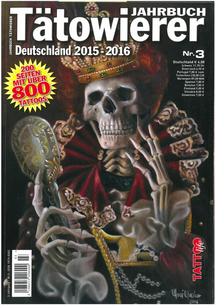 B�cher - Ver�ffentlichungen - TÄTOWIERER JAHRBUCH DEUTSCHLAND 2015-16 - Ausgabe 3