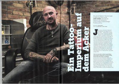 Andy Engel im TätowierMagazin - Ausgabe 3 - 2017