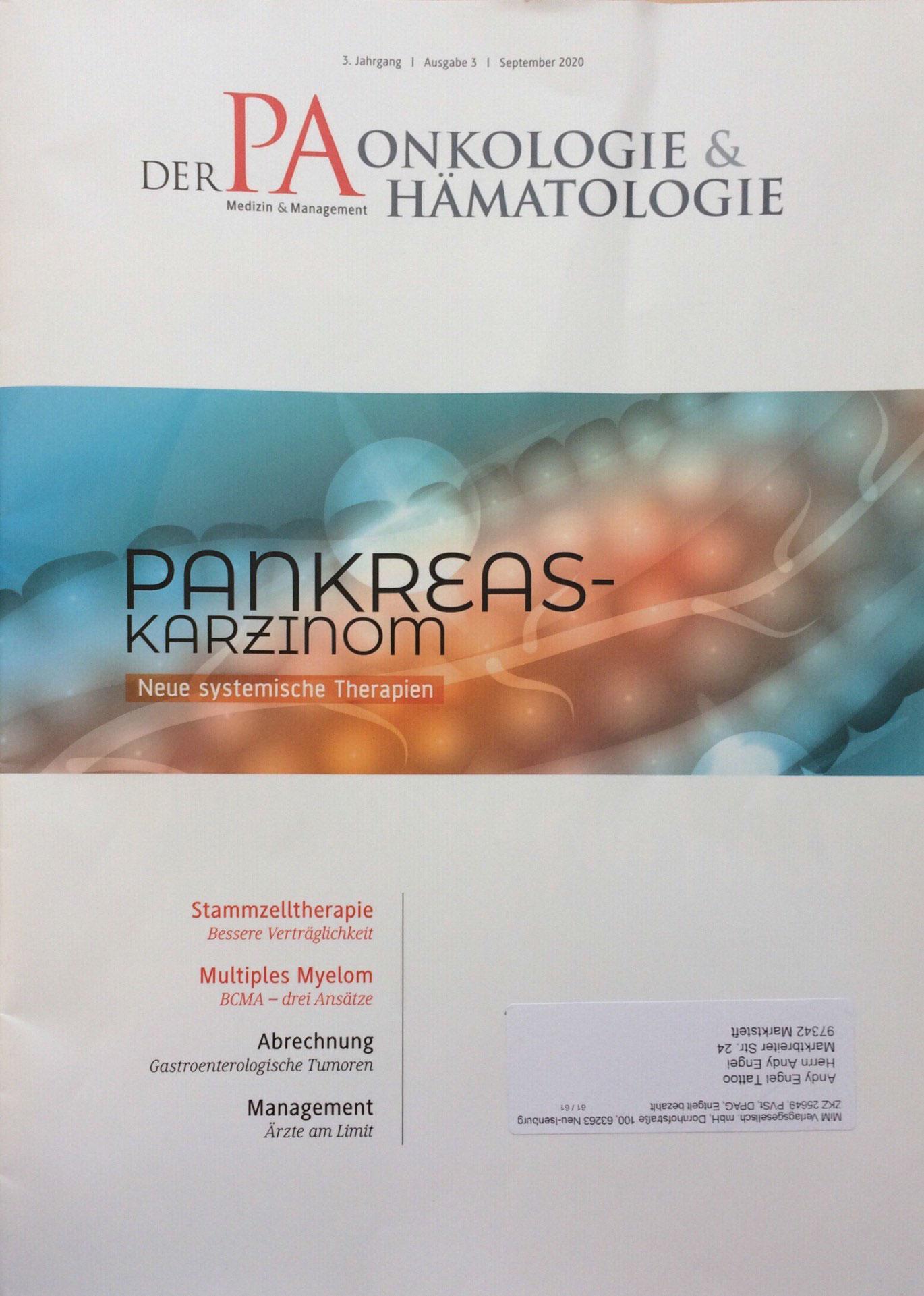 Zeitschrift - Der PA Onkologie & Hämatologie, Ausgabe 3, September 2020