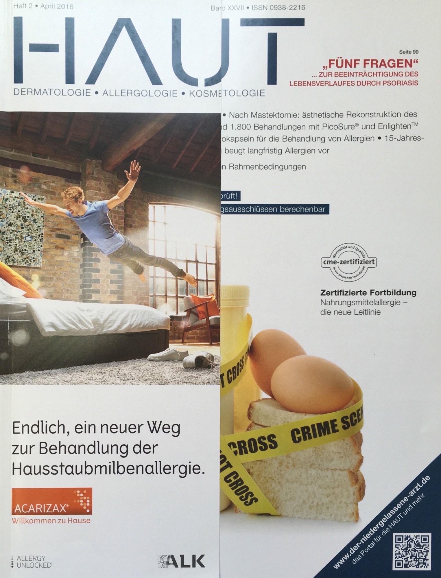 Zeitschrift Haut - Heft 2, April 2016