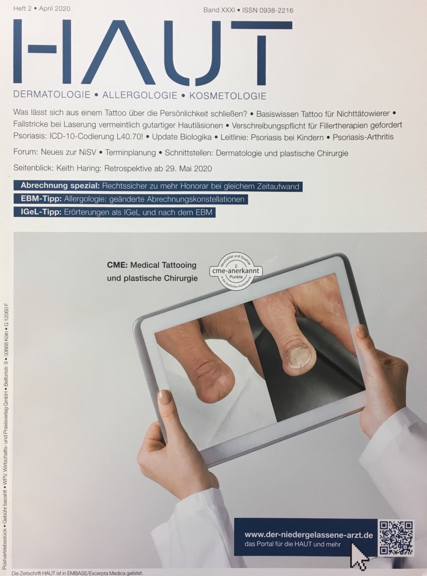 Zeitschrift Haut - Heft 2, April 2020